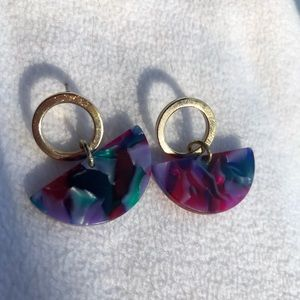 Francesca Acrylic mosaic earrings